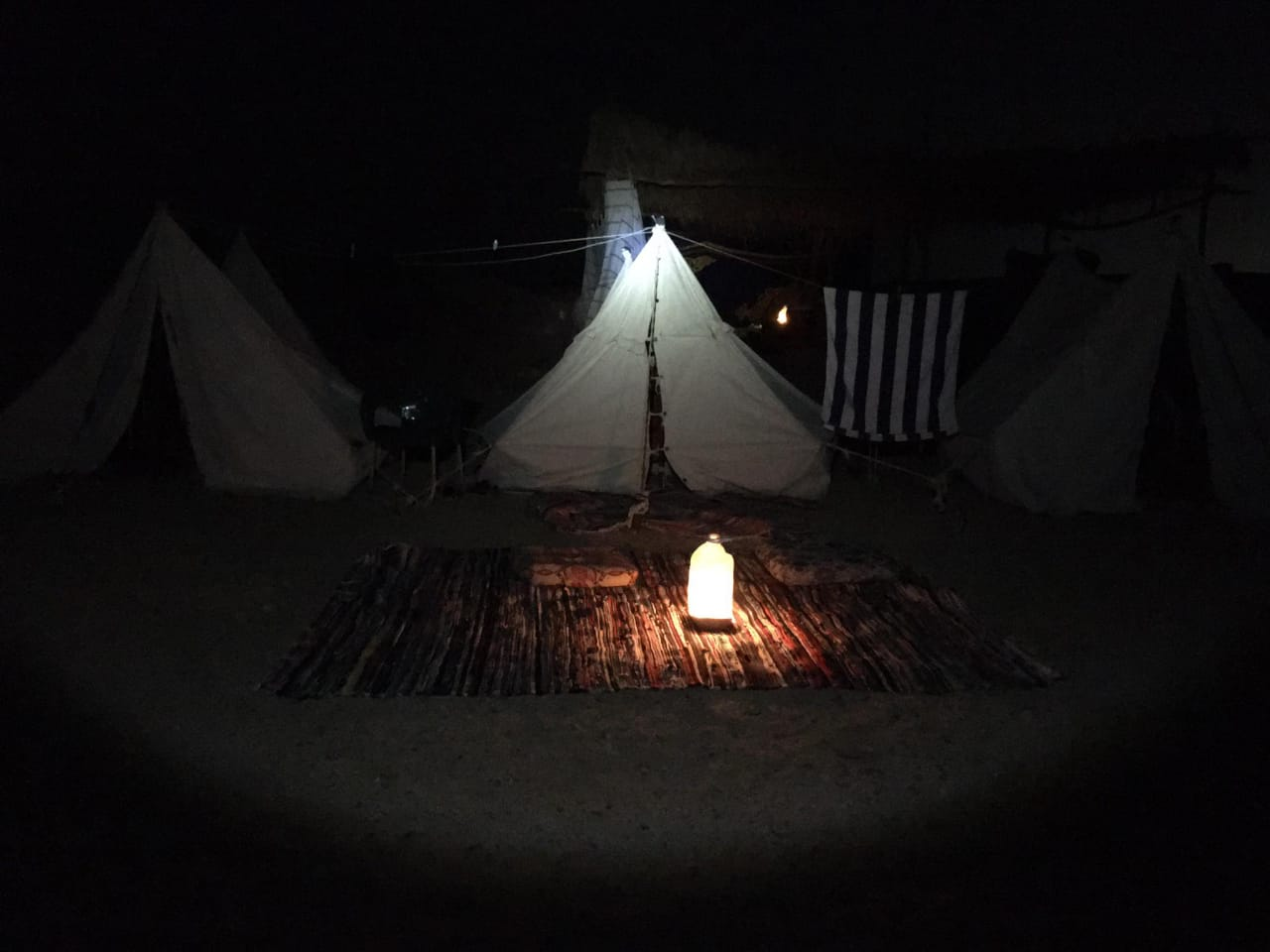 Ras Mohammed Camp by night