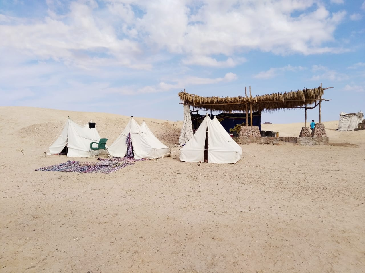 Sleeping tents & the public tent in Ras Mohammed Camp