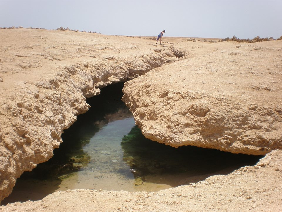 Earthquake Crack - national Park of Ras Mohamed
