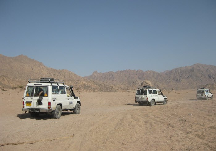 Sinai desert jeep Safari.