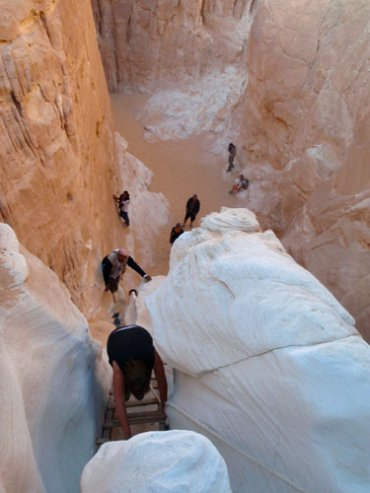 White Canyon Sinai Desert